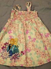 Niña Disney Tienda Frozen Vestido Blanco De Flores Princesa TALLA 4 ~ BAJO MUNDO