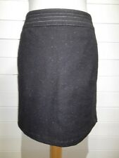 BNWT ~ M&S Skirt ~ Size 14 ~ Black ~ Italian Fabric with Wool ~ Casual ~ 1873