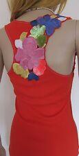 KAREN MILLEN ~Orange Floral~ Top UK 10 Holiday Cruise Cotton ~Sequinned~ Vest