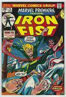 Marvel Premiere #15 (1974, Marvel) 1st App Iron Fist, Roy Thomas, w/ MVS, VG/VG+