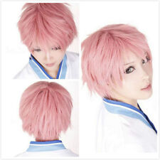 Unisex Men Short Boy Exorcist Renzou Shima Straigh Party Cosplay Costume Wig Cap