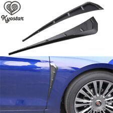 Universal Car Fender Blade Side Shark Gills Stickers Vent Trim 3D Carbon Fiber