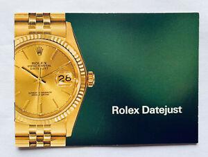 Vintage  Rolex Datejust Booklet - Spanish - 16013 16018 16019 16253