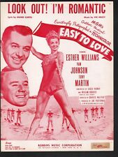 Look Out I'm Romantic 1953 Esther Williams in Easy To Love Sheet Music