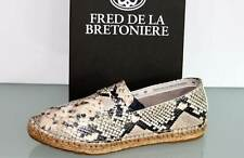 FRED DE LA BRETONIERE Leder Espadrilles Slipper Loafer Reptil - Neu ! Gr. 37