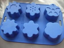 Silicone Mould 6 Cup Flower Shapes Muffin Fairy Cake Tin Soap Making