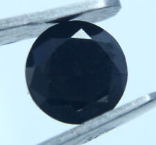 Black Moissanite Gem Ring Size Offer Ggl Certified 1.05 Ct Nice Round Cut