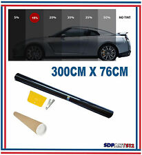 Film solaire de qualite 3m x 76cm, teinté 15% VLT couleur Noir auto