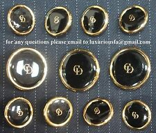 Christian Dior Gold Metal Blazer Buttons Set