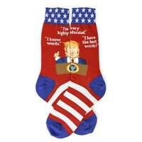 """Mens President Donald Trump Socks """"I Know Words""""  Funny Patriotic Socks"""