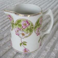 """Edwin Knowles China Co. Pink and White Dogwood 4.25"""" Floral Pitcher"""