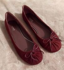 Black Friday New Suede Red La Redoute Creation Flat Shoes. Size 5. Cost £75