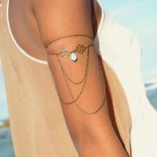 Women Fashion Jewelry Golden Bangle Tassel Chain Armlet Bracelet Upper Arm Cuff