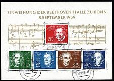 Germany - 1959 Beethoven - Mi. Bl 2 VFU