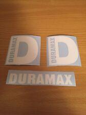 "Duramax Diesel D 4"" Stickers White Plus Extra Decal Truck 4x4"