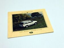 1995 Land Rover Range Rover Color & Upholstrey Guide Brochure