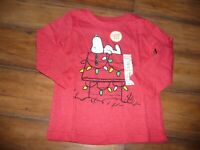 NEW NWT Jumping Beans boys 24 months Snoopy Christmas red shirt