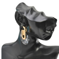 Acetic Acid Acrylic Drop Dangle Round Earrings For Women PARTY Jewelry