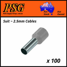 Cable Ferrules 2.5mm2 x 100 pack, Bootlace, Pin Crimps, Wire Sleeves