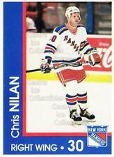 1989-90 New York Rangers Midland Bank #19 Chris Nilan