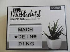 LED Leuchtschild Leuchtbox klein mit 82 Zeichen