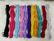 Flat 6mm Craft Elastic Stretchy 6 Cord, ideal for Face Mask and Crafting