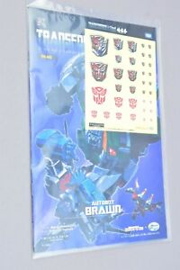 Transformers Cloud E-Hobby TFC-A02 Brawn Comic and Stickers
