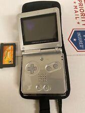 Gameboy Game Boy Advance SP AGS-001 Gun Metal Grey Handheld Video Game Console