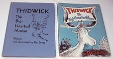 Dr. Seuss THIDWICK THE BIG-HEARTED MOOSE early in dj