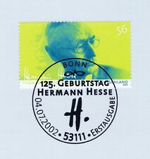 BRD 2002: Hermann Hesse Nr. 2270 mit sauberem Bonner Ersttagsstempel! 1A 1812