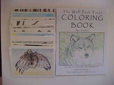 Wolf Note Cards 12 NEW Assorted Blank Cards & Coloring Book SET of 13 items