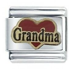GRANDMA RED HEART - Daisy Charms by JSC Fits Classic Size Italian Charm Bracelet