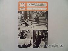 CARTE FICHE CINEMA 1927 LA CHAIR ET LE DIABLE Greta Garbo John Gilbert