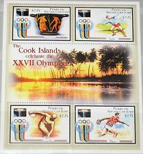 Penrhyn North Cook Islands 1992 Unlisted Olympics barcelona MS Ancient Art mnh
