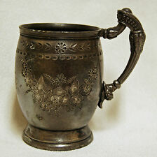 Antique Rogers Smith & Co. New Haven Conn. Silver Plate Cup Tankard  #111