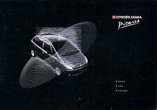 Citroen Xsara Picasso 1999-2000 UK Market Preview Foldout Brochure 1.6i 1.8i HDi