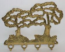 Garderobe Bäume Schlüsselhaken Schlüsselleiste aus Messing, 4 Haken, 16x13x2cm