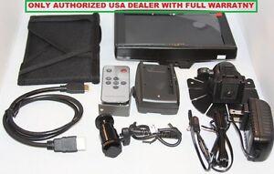 "Lilliput 7"" 619A HDMI Field Monitor+LP-E6 Plate+ Hood For Canon 5D-II III DSLR"