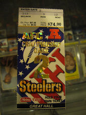 2001 PITTSBURGH STEELERS NEW ENGLAND PATRIOTS AFC CHAMPIONSHIP GAME TICKET