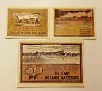 SCHOENBERG REUTERGELD NOTGELD 10, 25, 50 PFENNIG 1922 NOTGELDSCHEINE (11929)