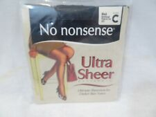 No Nonsense Ultra Sheer Pantyhose Size C Black NEW Made in Italy