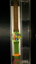 VINTAGE SWATCH WATCH-Boxed-Hang dodici gj102 Swatch Watch gj102 1989