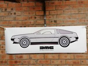 delorean dmc 12  large pvc banner  garage  work shop car show banner