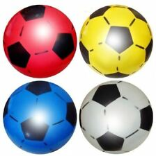 "10"" Plastic Inflatable Football Sports Training Beach Ball Toys Game Party Bag"