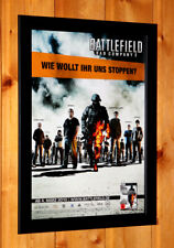 Battlefield Bad Company 2 Rare Small Poster Ad Page Framed PS3, Xbox 360 Live