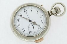 Quarter Repeater Pocket Watch Swiss Chronograph Serviced Warranty