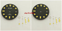 28.5mm Watch Dial+Luminous Watch Hands Fit Mingzhu 2813/3804,Miyota 8215 8205