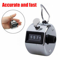 Tally 4 Digit Palm Counters Counter Hand Clicker Manual Handy Mechanical Chrom