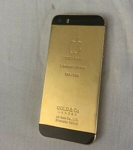 Apple 24k Gold IPhone 5s - 32GB - Gold (Unlocked) A1533 (GSM)New Battery