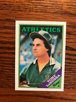 1988 Topps #344 Tony LaRussa Baseball Card Oakland Athletics A's Manager Raw